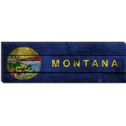 iCanvas Flags Montana Planks Panoramic Graphic Art on Canvas; 12'' H x 36'' W x 0.75'' D