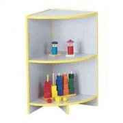 Jonti-Craft Rainbow Accents KYDZ Curves Corner Bookcase; Yellow