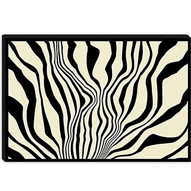 iCanvas Modern Zebra Print Graphic Art on Canvas; 12'' H x 18'' W x 0.75'' D