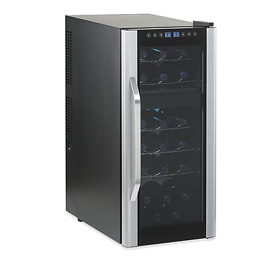 Wine Enthusiast Companies Silent 21 Bottle Dual Zone Thermoelectric Wine Refrigerator