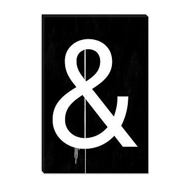 iCanvas Modern Symbol Textual Art on Canvas; 60'' H x 40'' W x 1.5'' D