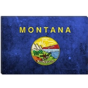 iCanvas Flags Montana Grunge Graphic Art on Canvas; 12'' H x 18'' W x 1.5'' D