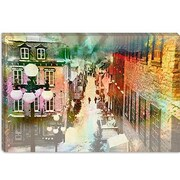 iCanvas Quebec City, Lower Town Canada #2 Painting Print on Canvas; 12'' H x 18'' W x 1.5'' D