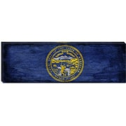 iCanvas Flags Nebraska Paper Grunge Panoramic Graphic Art on Canvas; 12'' H x 36'' W x 0.75'' D