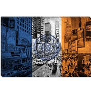 iCanvas Flags New York Times Square Graphic Art on Canvas; 18'' H x 26'' W x 1.5'' D
