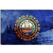 iCanvas Flags New Hampshire Loon Mountain Graphic Art on Canvas; 40'' H x 60'' W x 1.5'' D