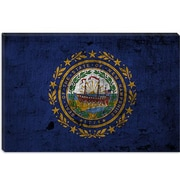 iCanvas Flags New Hampshire Graphic Art on Canvas; 26'' H x 40'' W x 1.5'' D