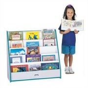 Jonti-Craft Rainbow Accents Pick-a-Book Stand with 1 Sided Flush Back; Teal