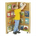 Jonti-Craft 48'' Mobile Library Bookcase with 2 Sections