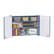 Jonti-Craft Rainbow Accents Lockable Rectangular Wall Cabinet; Teal