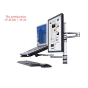 Atdec Visidec Height Adjustable 2 Screen Desk Mount