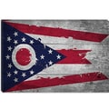 iCanvas Flags Ohio Wood Planks with Splatters Graphic Art on Canvas; 18'' H x 26'' W x 1.5'' D