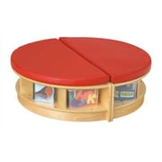Jonti-Craft KYDZ Circular Read-a-Round Island; Red