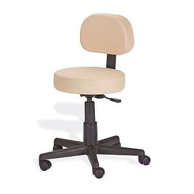 EarthLite Mid-Back Height Adjustable Rolling Drafting Chair; Marie's Beige