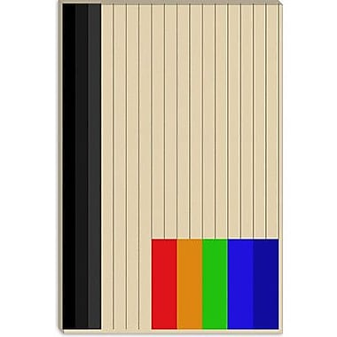 iCanvas Modern Rainbow Silo Graphic Art on Canvas; 40'' H x 26'' W x 1.5'' D