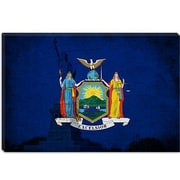 iCanvas Flags New York Statue of Liberty Graphic Art on Canvas; 18'' H x 26'' W x 1.5'' D