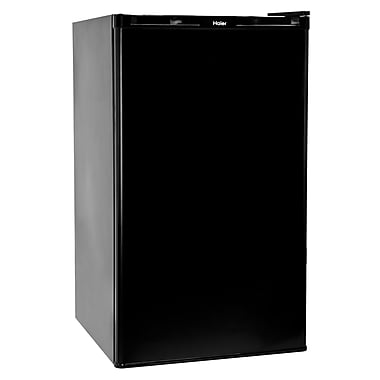 Haier 3.2 Cu. Ft. Compact Refrigerator with freezer; Black