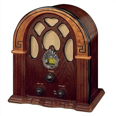 Crosley Old-fashioned Companion Walnut/Burl Radio