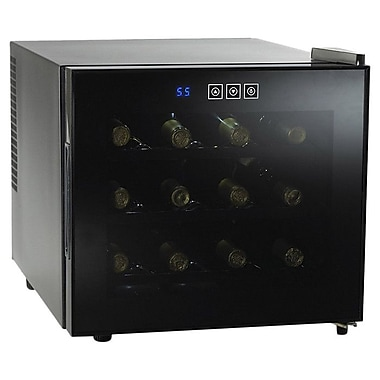 Wine Enthusiast Companies Silent 12 Bottle Single Zone Thermoelectric Wine Refrigerator