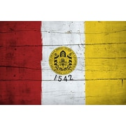 iCanvas San Diego Flag, Wood Planks Graphic Art on Canvas; 18'' H x 26'' W x 1.5'' D