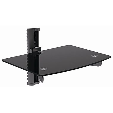 Bentley 12'' Adjustable Wall Mount Glass Shelf for DVD/VCR