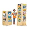 Jonti-Craft KYDZ Revolving Rectangular Book Tower; 56.5'' H