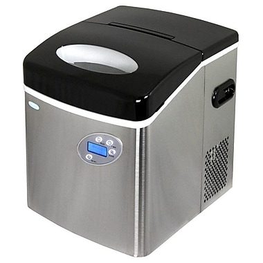 NewAir Portable Ice Maker; Stainless Steel