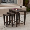 Home Loft Concept Lionel 3-Piece Wicker Nesting Table Set