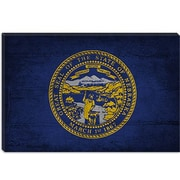 iCanvas Flags Nebraska Cracks with Grunge Graphic Art on Canvas; 18'' H x 26'' W x 0.75'' D