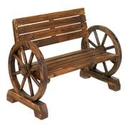 Zingz & Thingz Wheels Wood Garden Bench