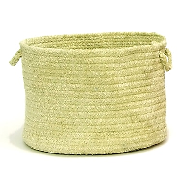 Colonial Mills Spring Meadow Braided Utility Basket; Sprout Green