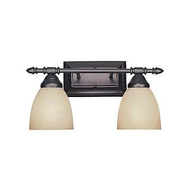 Designers Fountain Apollo 2 Light Vanity Light; Oil Rubbed Bronze