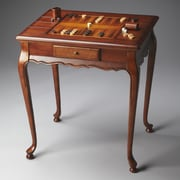 Butler Masterpiece Game Table in Distressed Olive Ash Burl