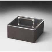Butler Hors D'oeuvres Lido Leather Storage Box; Black
