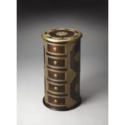 Butler Artifacts Rajan Brass Inlay Pedestal Chest