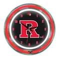 Wave 7 NCAA 14'' Team Neon Wall Clock; Rutgers