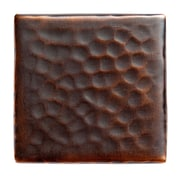 The Copper Factory Solid Hammered Copper 2'' x 2'' Decorative Accent Tile in Antique Copper