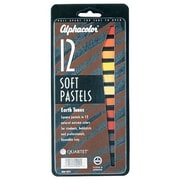Alphacolor Earth Tones Soft Pastels Color (Set of 12)