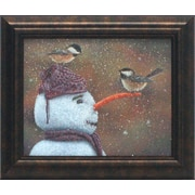 Artistic Reflections Winter Visitors by Norlien, Kim Framed Painting Print