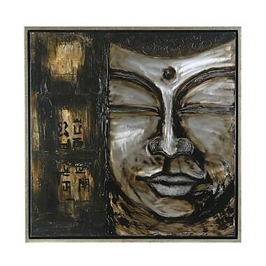 Amrita Singh Bali Buddha Framed Painting Print on canvas in brown
