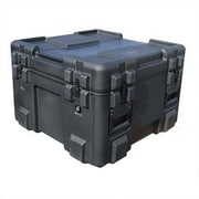 SKB Mil-Standard Roto Case: 27''L x 27 W x 18''H (inside); Layered Foam