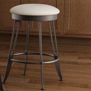 Amisco Library Luxe Style  26'' Phylo Swivel Bar Stool