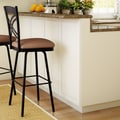 Amisco Countryside Style 26''  Chain Swivel Bar Stool