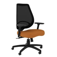 Compel Office Furniture Moda Mesh Task Chair with Arms; Orange