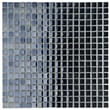 EliteTile Sable 5/8'' x 5/8'' Polished Glass Mini Mosaic in Black Mirror