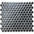 EliteTile Sable 7/8'' x 7/8'' Polished Glass Penny Mosaic in Black Mirror