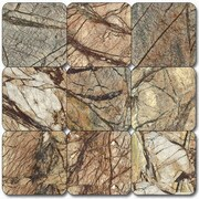 MSI Cafe Forest 1'' x 1'' Marble Mosaic Tile in Brown
