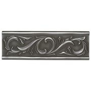 Daltile Metal Ages 12'' x 4'' Chaplet Glazed Decorative Accent in Polished Pewter