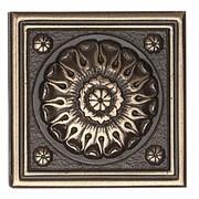 Daltile Metal Ages 2'' x 2'' Baroque Glazed Decorative Tile Insert in Polished Bronze