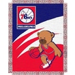 Northwest Co. NBA Baby Triple Woven Jacquard Throw; Philadelphia 76ers